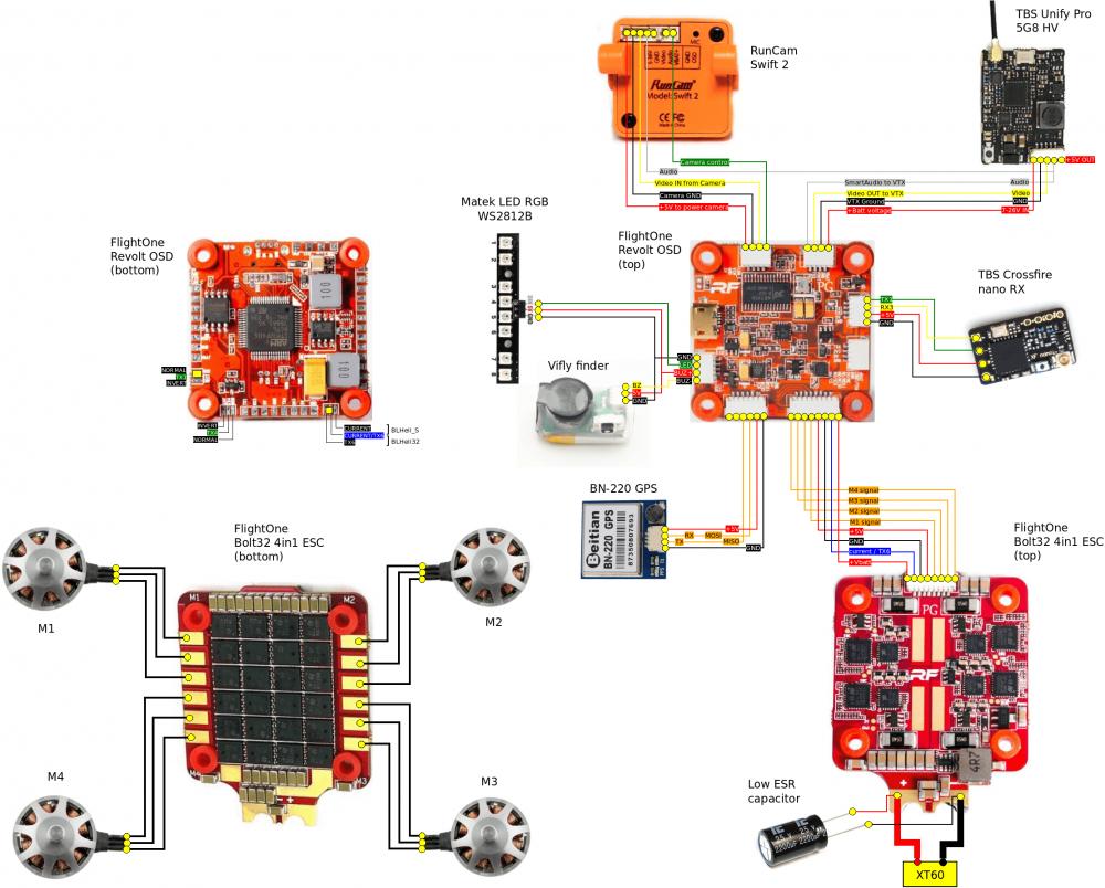 Px Drones Wiring Flightone Bolt on Quadcopter Motor Wiring Diagram