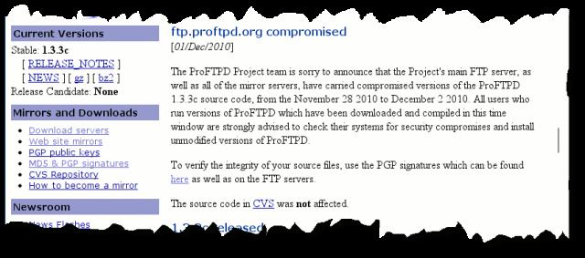 Exploits/proftpd-1 3 3c-backdoor - aldeid